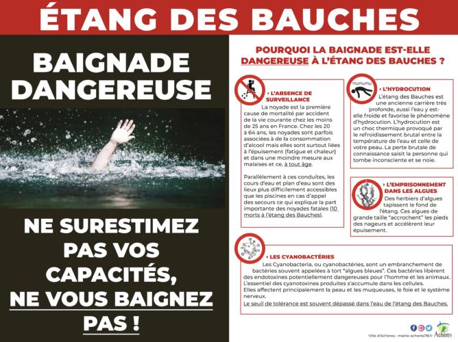 Étang des Bauches : Interdiction d'accès au site